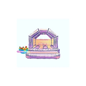 pink and purple princess bouncy castle